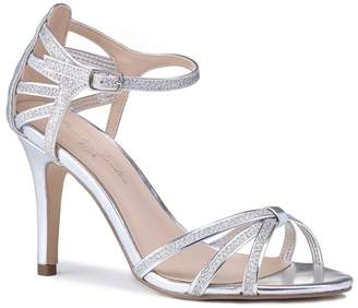 Mystique Pink by Paradox London - Silver Glitter 'Mystique' High Heel Stiletto Ankle Strap Sandals
