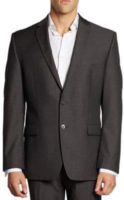 Calvin Klein Mini Herringbone Wool Suit Jacket