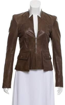 Just Cavalli Casual Leather Jacket
