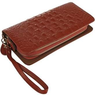 Mkf Eve Genuine Leather Wristlet Wallet