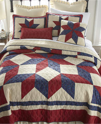 American Heritage Textiles Gatlinburg Star 3 Piece Cotton Quilt Set King Bedding