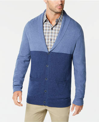Tasso Elba Men's Colorblocked Shawl-Collar Cardigan