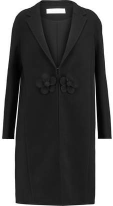 Victoria Beckham Victoria Floral-Appliqud Wool-Crepe Coat