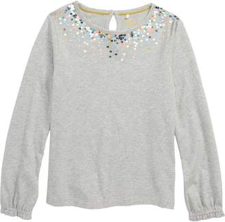 Boden Mini Twinkly Sequin Jersey Top