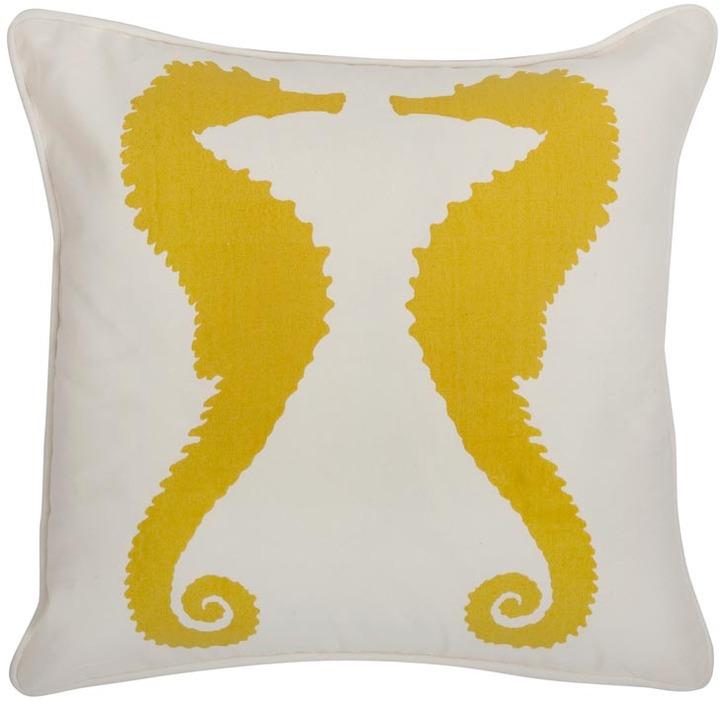 Thomaspaul - Seahorses Sunflower Outdoor Pillow