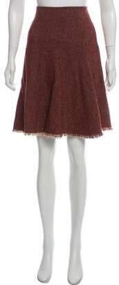 Etro Wool-Blend Herringbone Skirt