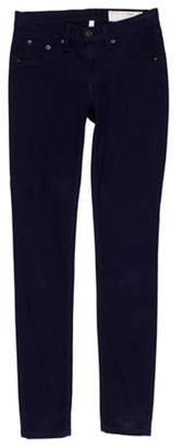 Rag & Bone Low-Rise Skinny Pants Navy Low-Rise Skinny Pants