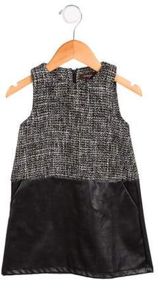 Imoga Girls' Contrast Sleeveless Dress