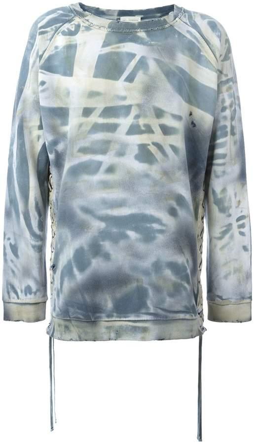 Faith Connexion 'Tye Dye' lace sweatshirt