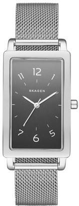 Women's Skagen 'Hagen' Rectangle Mesh Strap Watch, 22Mm X 43Mm $165 thestylecure.com