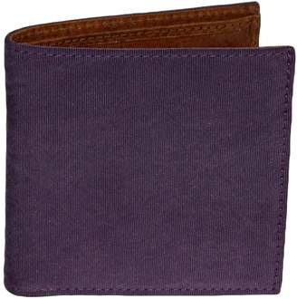 40 Colori - Purple Solid Washed Mogador & Leather Wallet