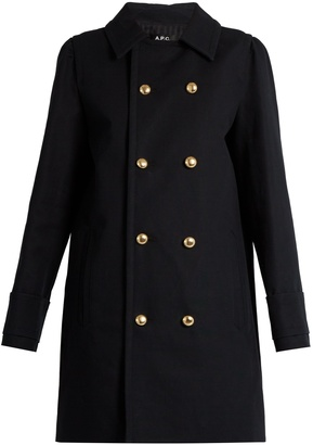A.P.C. Double-breasted cotton pea coat $410 thestylecure.com