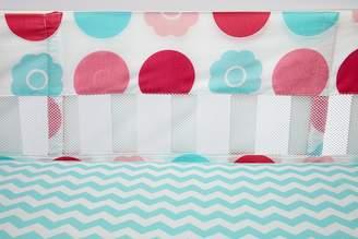 NoJo Little Bedding by Tickled Secure Me Crib Liner, Aqua/Pink