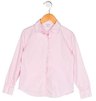 Brooks Brothers Girls' Checkered Button-Up Top
