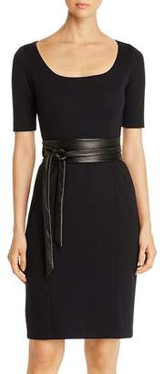 Elie Tahari Siona Wrap-Belt Dress