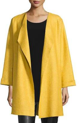 Caroline Rose Lana Fantasia Topper Coat, Sunset Gold, Petite