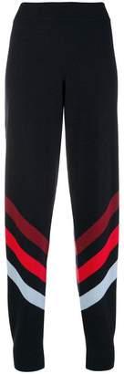 Parker Chinti & stripe detail track pants