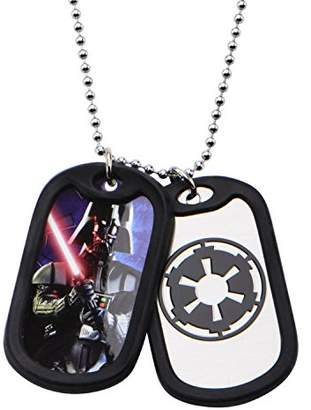 Star Wars Jewelry Darth Vader Stainless Steel Double Dog Tag Men's Pendant Necklace