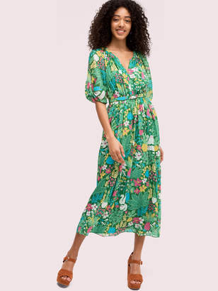 Kate Spade garden posy silk dress