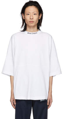 Palm Angels White Over Logo T-Shirt