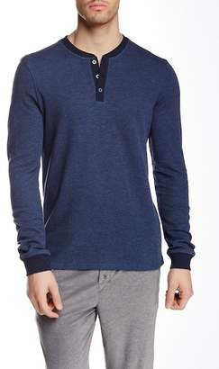 BREAD & BOXERS Long Sleeve Thermal Henley Shirt