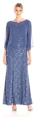 Alex Evenings Women's Pop Over Cape Cover Up Shawl Dress
