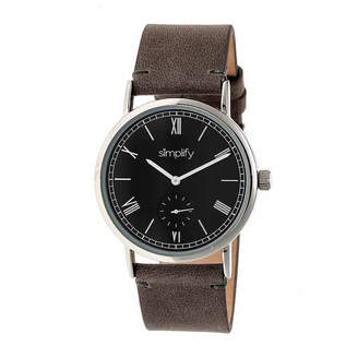 Simplify Mens Gray Strap Watch-Sim5104