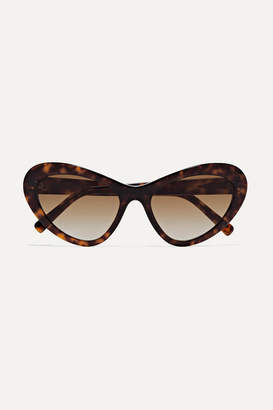 Cat Eye Andy Wolf - Blair Oversized Cat-eye Tortoiseshell Acetate Sunglasses