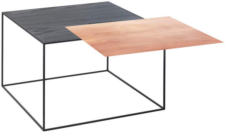 by Lassen - Twin 49 Beistelltisch, schwarzer Rahmen, Kupfer / schwarze Esche