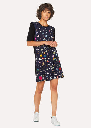 Paul Smith Women's Navy 'Terrazzo' Print Jersey Dress