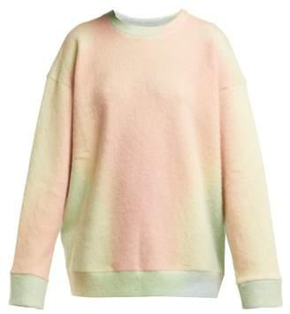 The Elder Statesman Felted Cashmere Blend Sweatshirt - Womens - Yellow Multi
