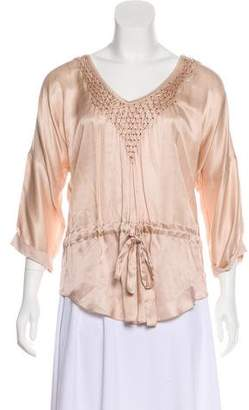 Rebecca Taylor Silk-Blend Sequined Top