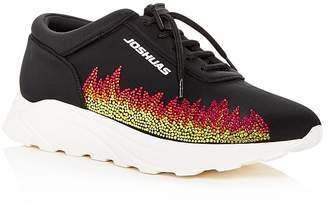 Joshua Sanders Women's Dirty Flames Lace Up Wedge Sneakers