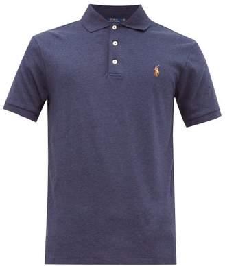 Polo Ralph Lauren Logo Embroidered Cotton Jersey Polo Shirt - Mens - Navy