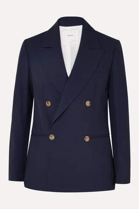 CASASOLA - Double-breasted Wool Blazer - Navy