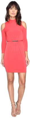 Jessica Simpson Cold Shoulder Mock Nuck Dress Women's Dress