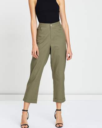 Atmos & Here ICONIC EXCLUSIVE - Sadie Relaxed Linen Blend Pant