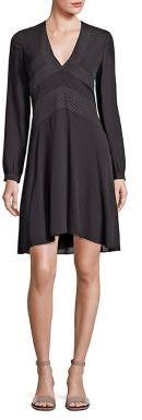 Tory BurchTory Burch Varenne Silk Contrast Stitch Dress