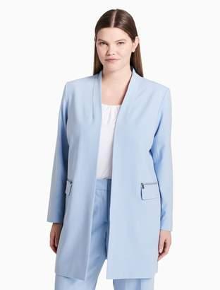 Calvin Klein plus size luxe long jacket
