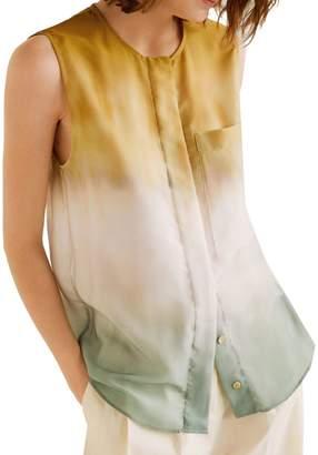 MANGO Tie-Dye Sleeveless Top