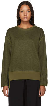 3.1 Phillip Lim Green Military Wool Sweater
