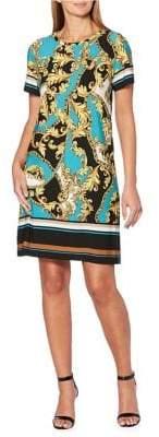 Rafaella Petite Herald Scroll A-Line Dress