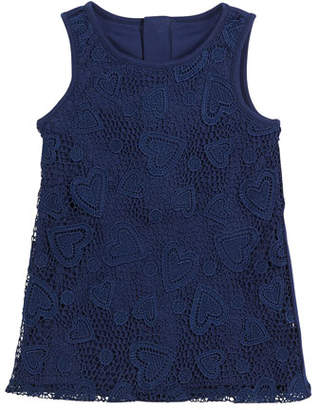 Kate Spade Sleeveless Heart Lace Dress, Size 2-6x