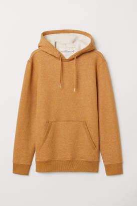 H&M Hooded Sweatshirt with Pile - Yellow