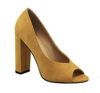 Michael Antonio Womens Haver Pumps Slip-on Peep Toe Block Heel