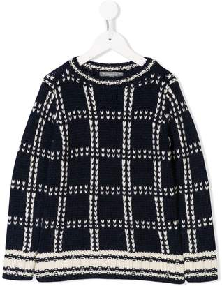 Bonpoint knitted check sweater