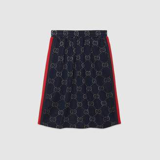 Gucci Children's GG lame skirt