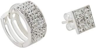 177e7b4a7 Revere Men's Silver Crystal Huggie & Stud Earring