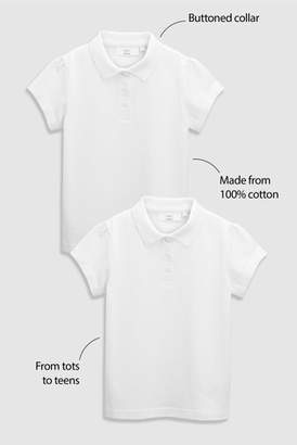 Next Girls White Polo Two Pack (3-16yrs)