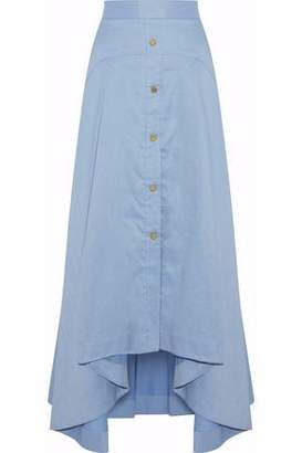 Peter Pilotto Cotton And Linen-Blend Chambray Maxi Skirt
